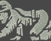 Crawling Coal Miner Embroidery Design