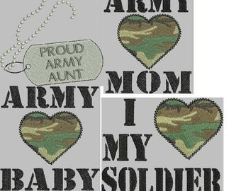 MILITARY HONOR Army Embroidery Design Collection