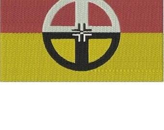 NATIVE AMERICAN HEALING LODGE FLAG Embroidery Design