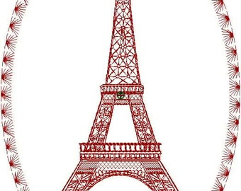 Eiffel Tower Embroidery Design Collection