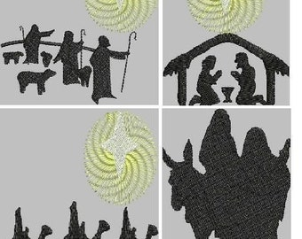 Christmas Nativity Embroidery Design Collection
