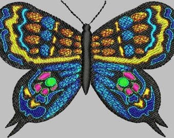 BUTTERFLY FLUTTERBY Machine Embroidery Design