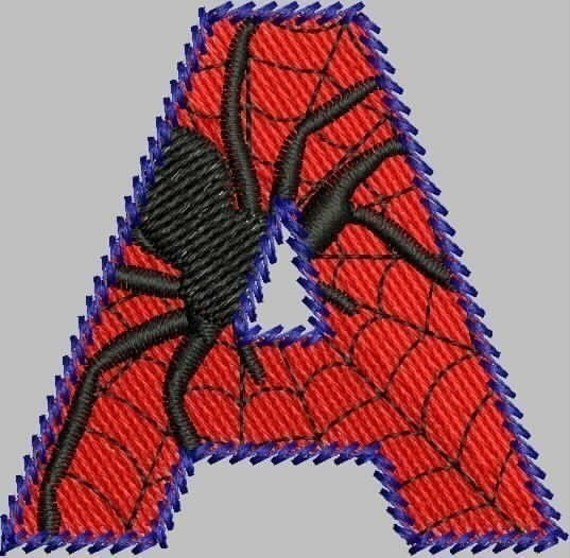 ARACHNID ALPHABET -- Spider Letters -- Machine embroidery design