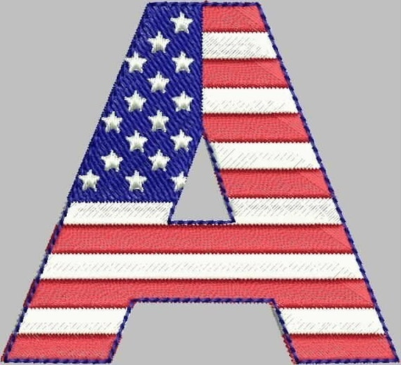 Fantastic Flag Font -- Machine Embroidery Alphabet Designs