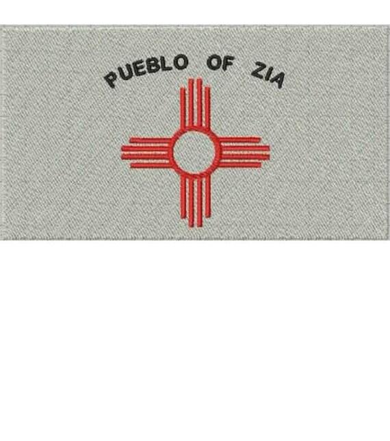 Pueblo native american flag embroidery design