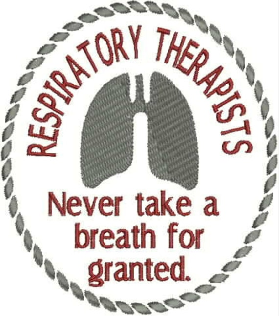 Respiratory Therapist Embroidery Design