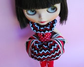Ballerina Bombshell ZigZag Dress for Blythe