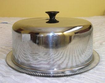 Vintage Aluminum Cake Carrier Server Kromex
