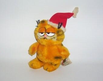 Vintage Santa Garfield 1981 - Vintage Plush Toy Doll
