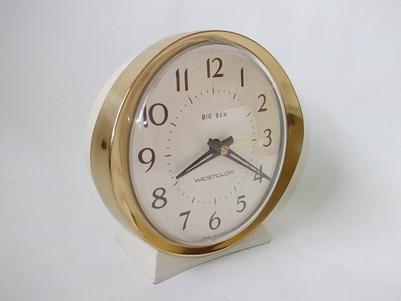 Vintage Big Ben Westclox Alarm Clock Wind up