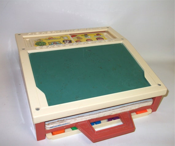Vintage Fisher Price School Desk 1972 - Fisher Price Toy