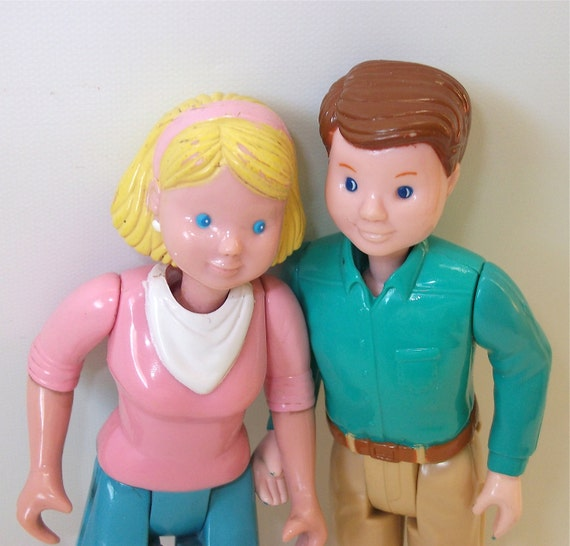 Vintage Fisher Price Loving Family Dolls:  Mother and Father