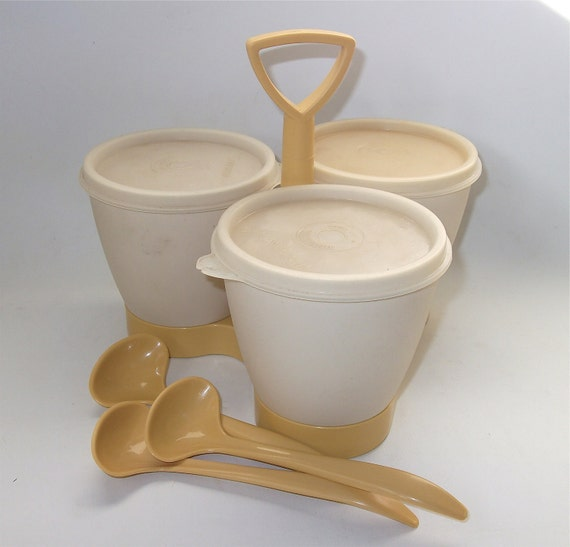 Vintage Tupperware Condiment Tupperware Caddy