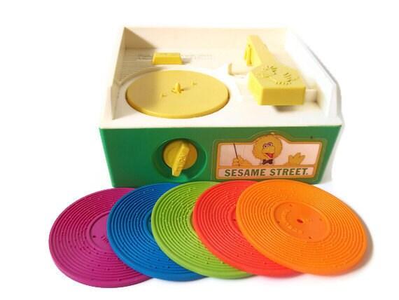 Vintage Fisher Price Sesame Street Music Box Record Player 995