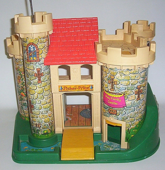 Vintage Fisher Price Little People Family Castle
