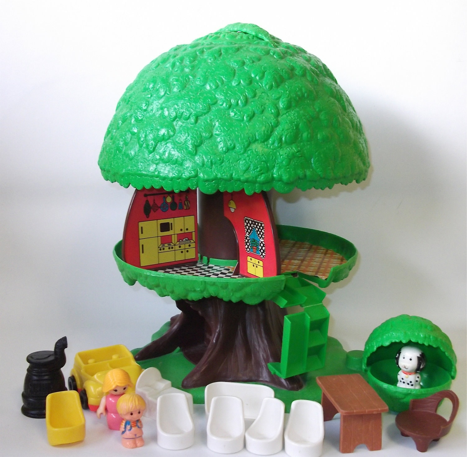 Vintage Kenner Family Tree House: Tree Tots by RetroClassics Zoo Animals Toys