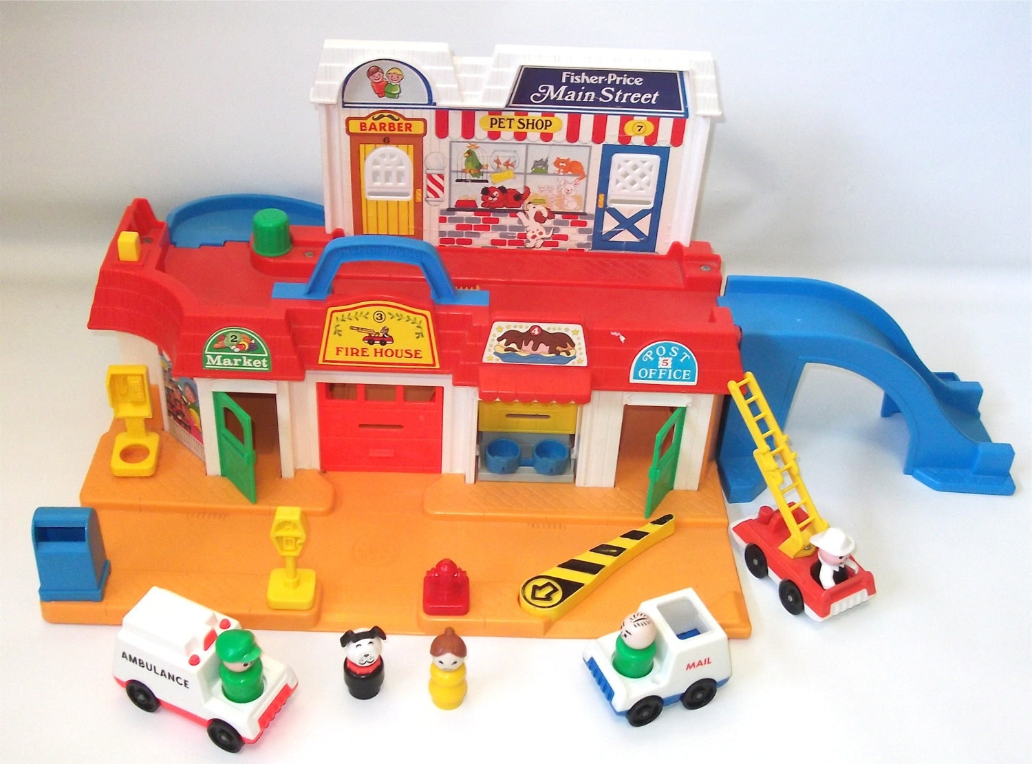 Vintage Fisher Price Play Family Main Street Little People