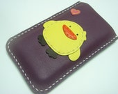Leather Case - Wendy the Chick iPhone 5 Leather Case ( Purple and Yellow )