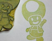 Toad - handcarved rubber stamp