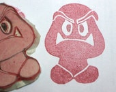Goomba - handcarved rubber stamp