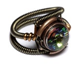 Steampunk Jewelry - RING - Vitrail Svarovski Crystal