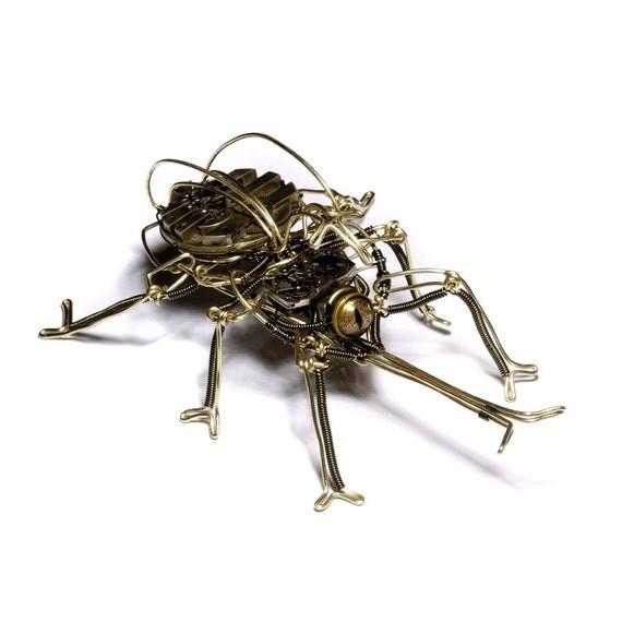 Steampunk Kabuto Mushi Robot Sculpture - Japanese Rhinoceros Beetle