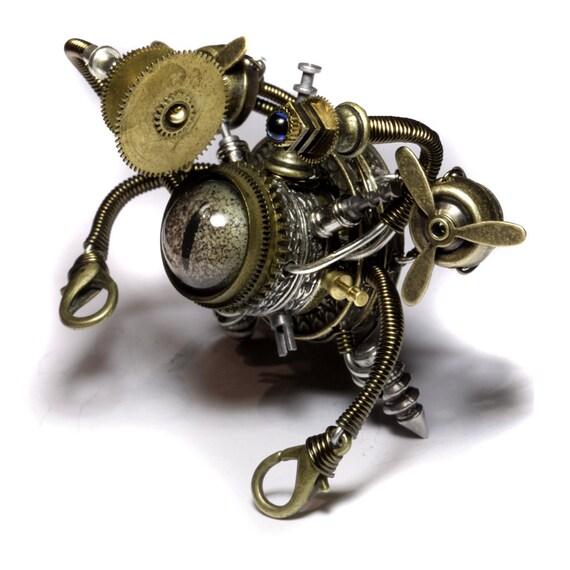 Steampunk Sculpture -  Airship Beholder Robot
