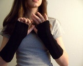 Black like Midnight Fingerless Gloves
