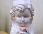 Vintage Porcelain Angel Cherub Night Light Lamp