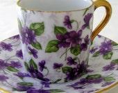 Inarco Japan Purple Chintz Demitasse Tea Cup