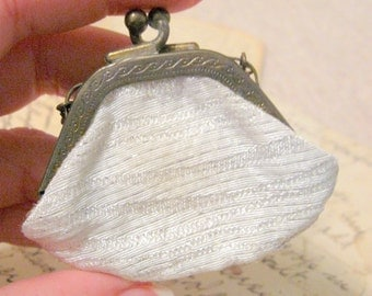 Doll Purse Tiny White Brocade Ginny 1950's