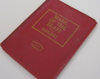 Mark of the Beast by Kipling 1920's  Miniature Library Edition