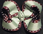 Two-Toned Loopy Bow - You Choose the Colors - Large - 4in