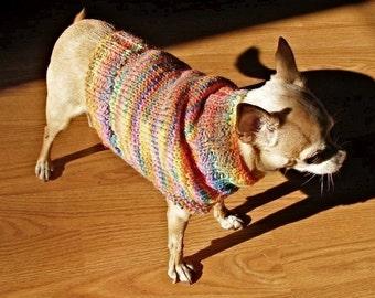 Immediate Download - PDF Knitting Pattern for The Fiesta Dog Sweater