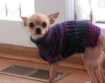 Immediate Download - PDF Knitting Pattern for Easy Garter Stitch Dog Sweater