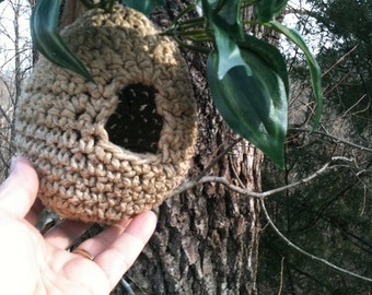 Immediate Download - PDF Crochet Pattern for Hemp Birdhouse For Your Feathered Friend