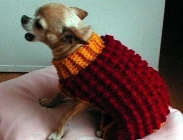 Immediate Download PDF Crochet Pattern Bobble Stitch Dog