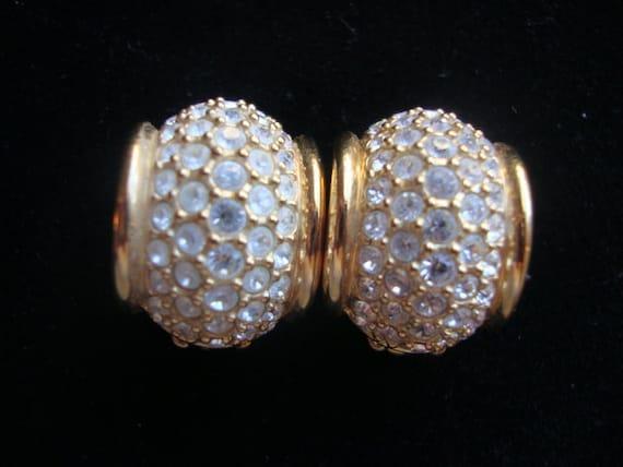Swarovski and Gold Tone Earrings