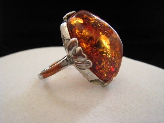 Amber Ring, size 9