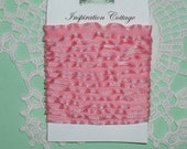 Mini Pink Double Ruffle Ribbon