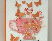 Spring is Here..A cup of Thanks notecard