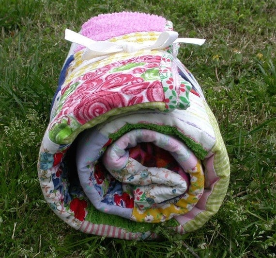 CUSTOM listing for cottonqueen- - -baby quilt   lap quilt   little girl's quilt