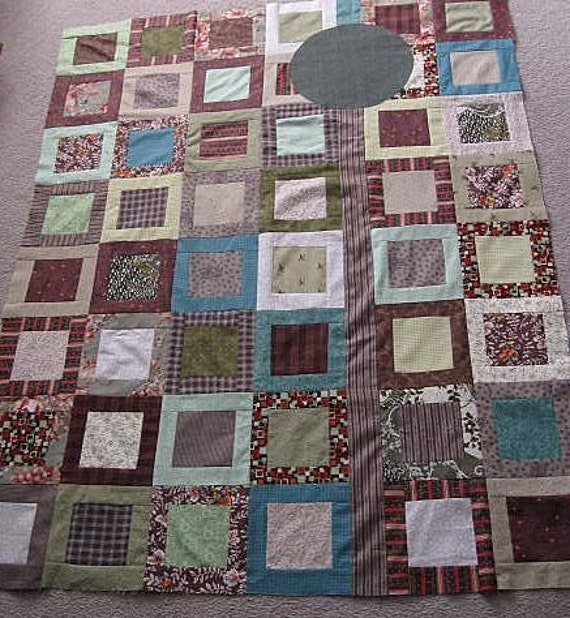 SPECIAL LISTING for JustJules73 - - echo quilt - 12 - forest