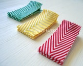 Chevron Stripes - Hair Clips - Alligator Style - Red Yellow Green Teal - Infant Baby Girls Adults