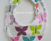 THE ORIGINAL Little Drooler Bib - Perfect for Teething Baby or Baby that Spits Up - Canyon Flutter OR Design Your Own - 64 Fabrics