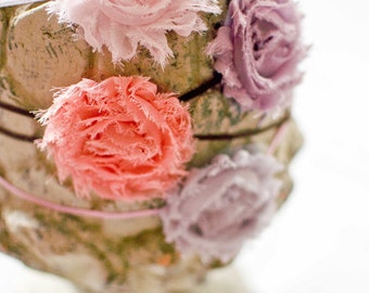 10 Shabby Chic Rosette Headbands - Bundle and Save - Mix and Match Colors and Sizes - Pick Any 10
