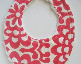 THE ORIGINAL Little Drooler Bib - Perfect for Teething Baby or Baby that Spits Up - Cherry Wallflower OR Design Your Own - 64 Fabrics
