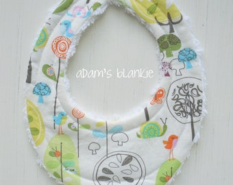 THE ORIGINAL Little Drooler Bib - Perfect for Teething Baby orBaby that Spits Up - Happier - OR Design Your Own - 64 Fabrics