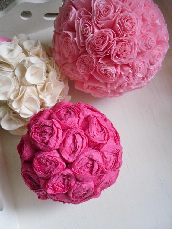 PATTERN - DIY 2 PDF ePattern Tutorials - Paper Flower Bloom Balls - 2 Patterns Included - Use the Rosette Pattern for Making Hair Rosettes
