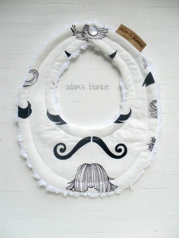 THE ORIGINAL Little Drooler Bibs - Teething Baby -Spits Up - Mustache - OR Design Your Own - 64 Fabrics